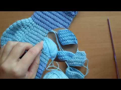 Мастер класс! Вязание крючком. Носочный эластичный столбик с накидом.