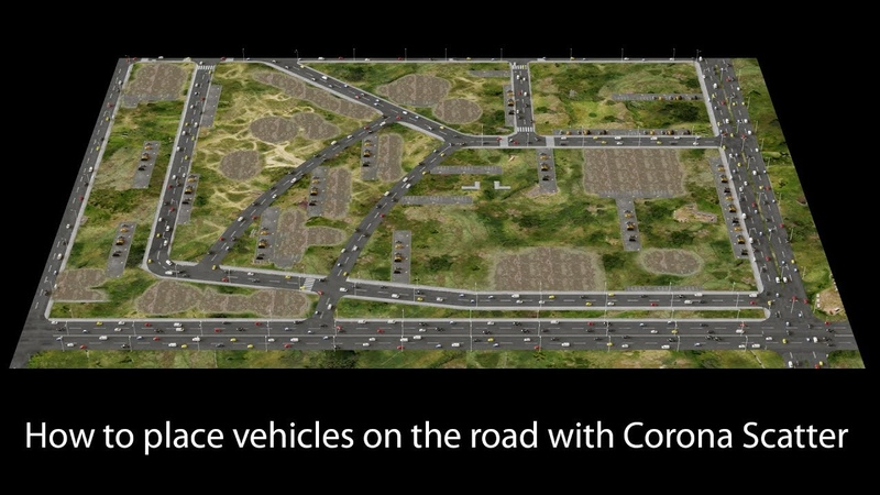 How to place vehicles on the road with Corona Scatter