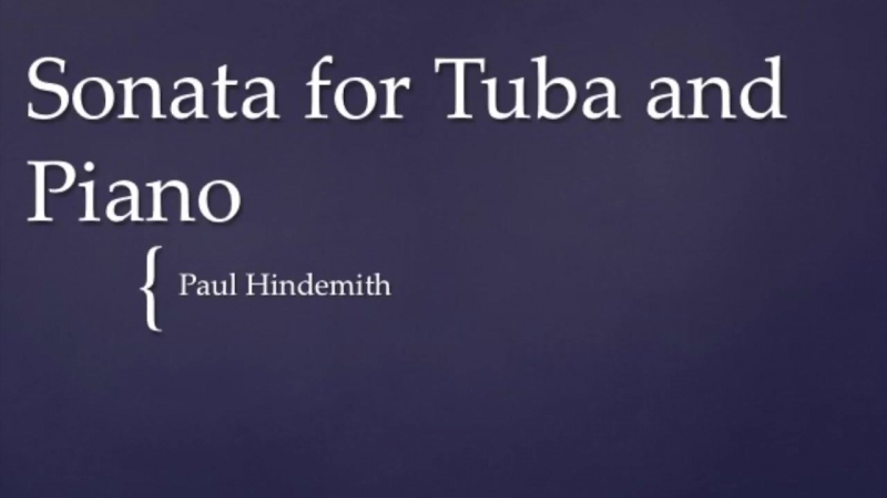 Paul Hindemith Sonata for Tuba and Piano