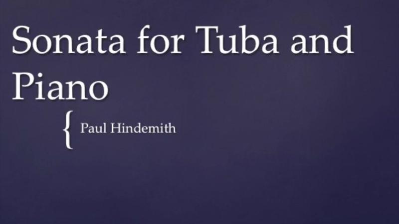 Paul Hindemith Sonata for Tuba and Piano