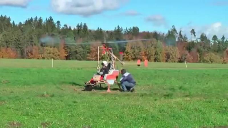 Вертолет на перекиси водорода .