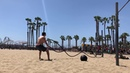 Workout at the Santa Monica beach with Michael Vazquez