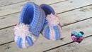 Chaussons citrouille bébé crochet / Baby pumpkin shoes crochet (english subtitles)