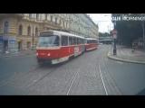 Не очень умные люди на дорогах Праги