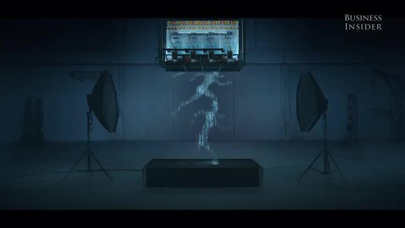 Water droplets create amazing human-like animations