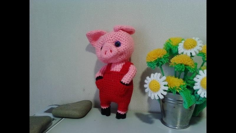 Чудесный поросенок, ч.1. A wonderful pig, р.1. Amigurumi. Crochet. Амигуруми. Игрушки крючком.