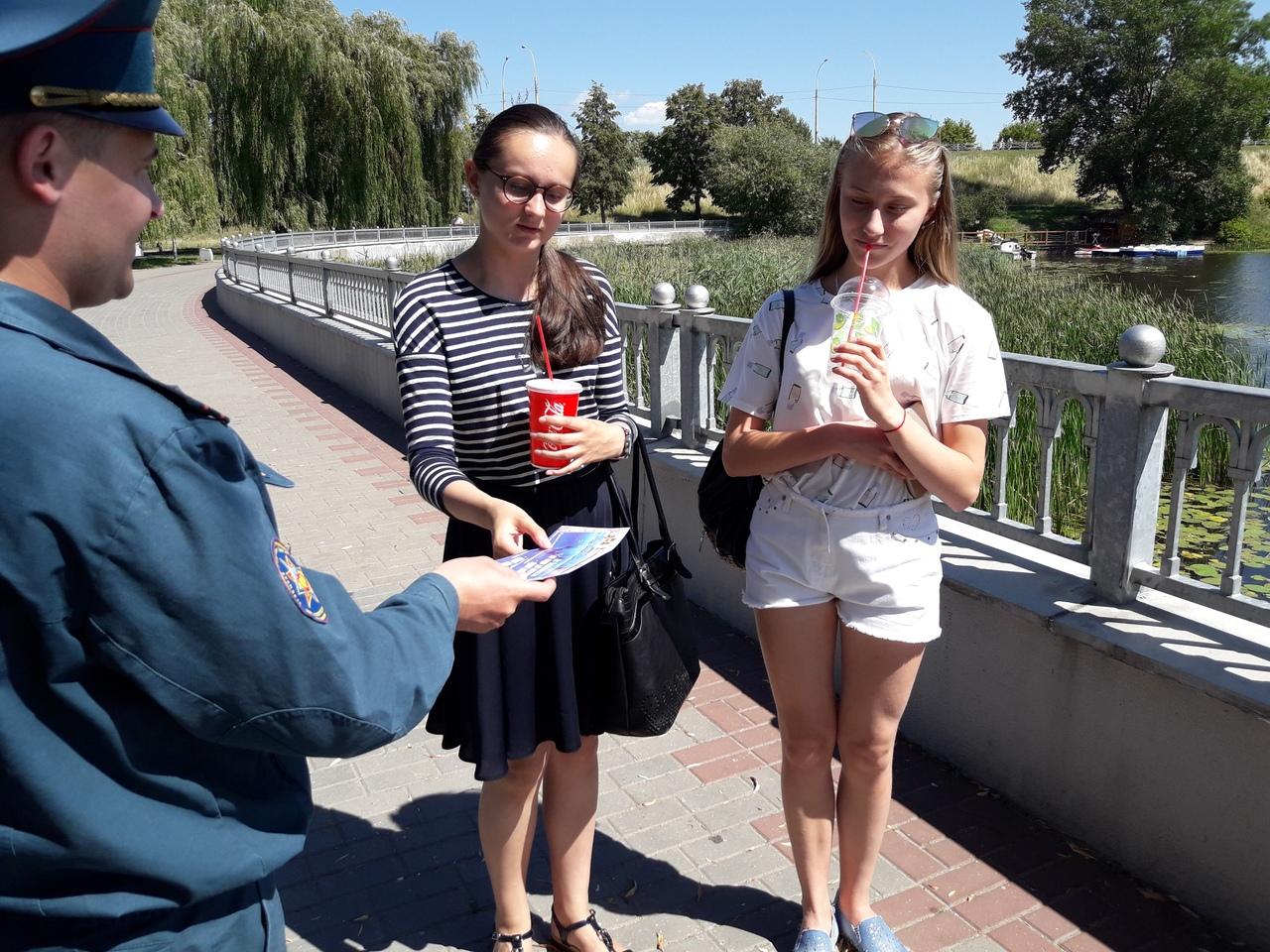 В Ленинском районе напоминают отдыхающим правила безопасного поведения на воде