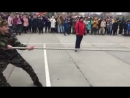 Выступление гимназистов на военно-спортивных состязаниях