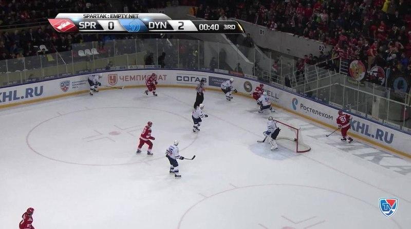 Моменты из матчей КХЛ сезона 14 15 Гол 0 3 Максим Карпов Динамо поставил победную точку в матче 12 11