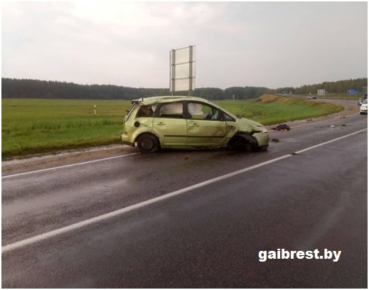 Барановичский район: в ДТП пострадала 5-летняя пассажирка