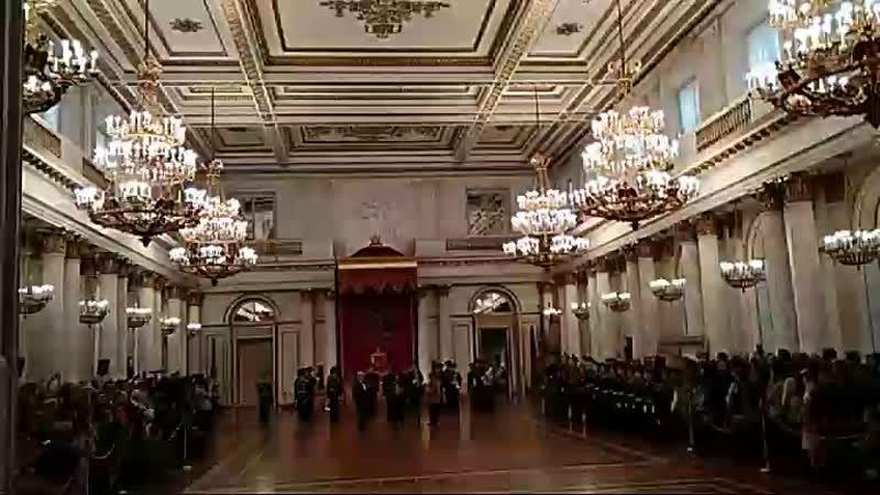 Торжественная церемония в Георгиевском зале Зимнего дворца посвященная Дню небесного покровителя русского воинства Св Георгия