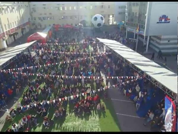 В фан-зону Вознесенских казарм во время трансляции матча Россия - Египет посетили 700 болельщиков