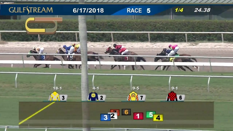 Gulfstream Park Carrera 5 - 17 de Junio 2018.mp4