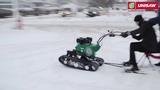 Снегоход из мотоблока Caiman. Снегоходная приставка к мотоблокам Caiman Vario