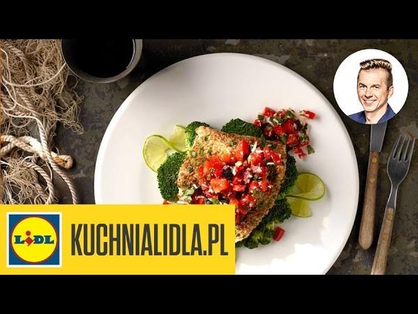 🐠 Dorsz w razowej panierce z brokułami - Karol Okrasa - Przepisy Kuchni Lidla