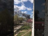 На Южном поселке горят два жилых дома