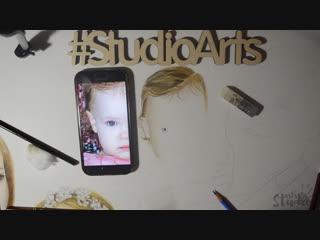STUDIO_ART'S Портрет цветными карандашами!