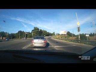 Авария в Истре, Ново-Иерусалиме 13.08.2018 шкода и киа на волоколамском шоссе в 7 утра.