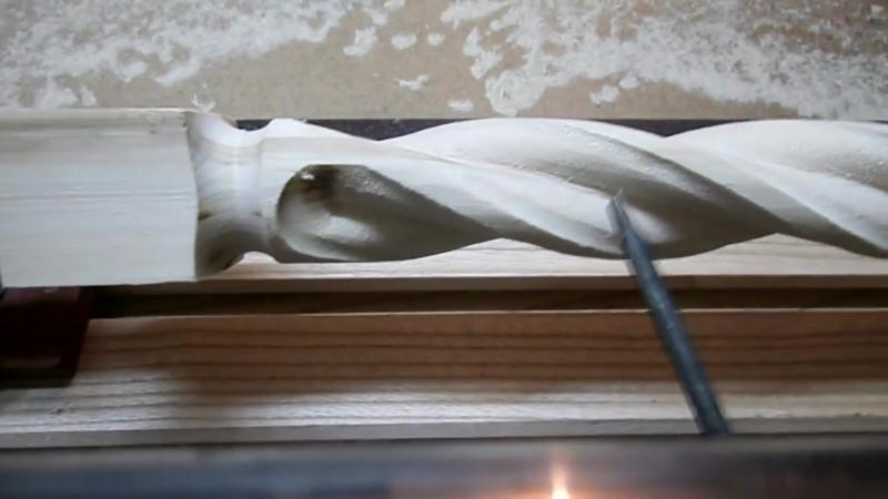 Витые балясины (каннелюр). Часть 2. The milling machine for wood. Part 2