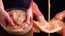 Складываем 20 куриных грудок стопкой и протыкаем шпажкой Объедение