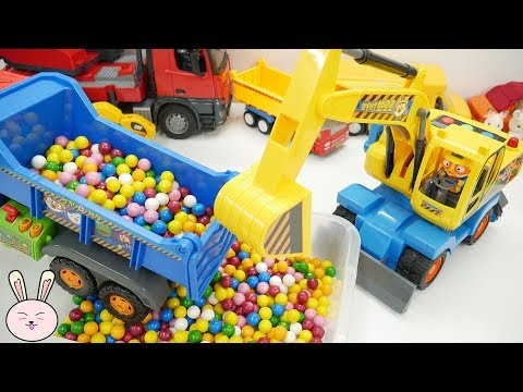 Kids toys | Excavator Pororo Dump Truck Cement Mixer Crane Truck Garbage Truck for kids | YapiTV Toy