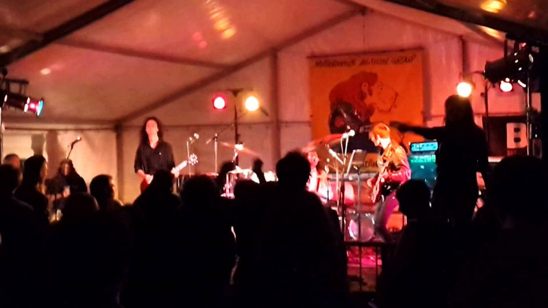Ray Phillips Band - Roxie Beaumont Dancers - MAG Lion Rally - England 2014
