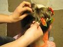 Зачіска з лентою канзаши Прическа с лентой канзаши