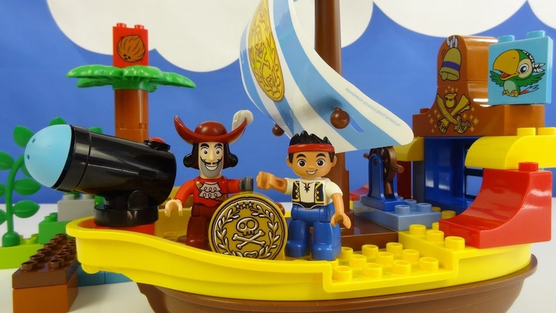 Строим из Lego Duplo, LEGO DUPLO 10514 Jake's Pirate Ship Bucky – Пиратский корабль Джейка