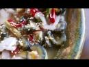 Корейская уличная еда - морепродукты, морской огурец в Корее