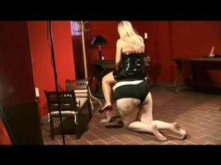 ride on big but struggling all-fours ponygirl