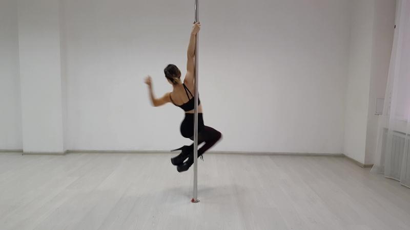 Letta Yablokova. Exotic pole dance.