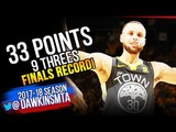 Stephen Curry 2018 Finals GM2 Golden State Warriors vs Cavs - FINALS RECORD! FreeDawkins