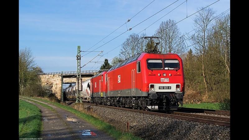 Güterzüge auf der Frankenwaldbahn - MEG Zementzug, Raildox, TX Logistik uvm.