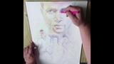 Usher. Как нарисовать портрет карандашами.