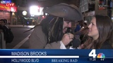 Captain Jack Sparrow (Johnny Depp) interrupts News Reporter