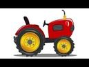 Trator carro Garagem desenho animado desenho infantil crianças Vídeo Kids Video Tractor