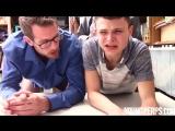 Отец и сын ублажают негра в форме (гей порно, gay porn)