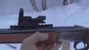 Коми лес зимой ИЖ18 и коллиматор пристрелка 1