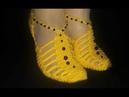 Dansöz patik patiği modeli modelleri örgü el örgüsü patik yapımı