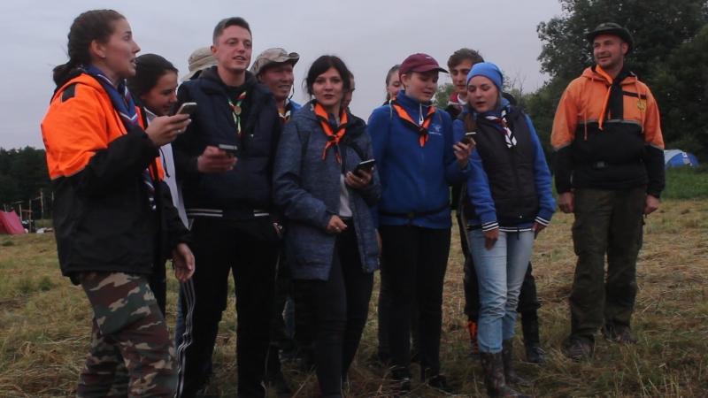 Выступление стаффа на слете волчат в Калининградской области