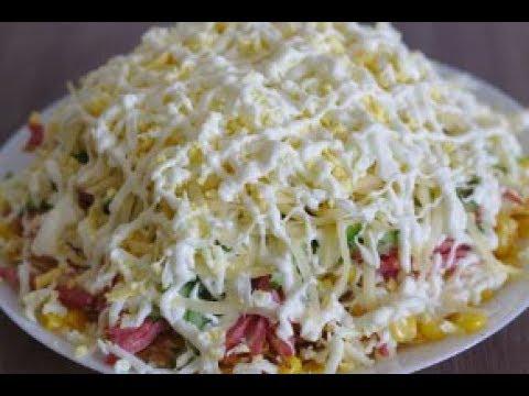 Такого рецепта салата нет в интернете! Очень необычный салат Хруст . (Домашний кулинар) » Freewka.com - Смотреть онлайн в хорощем качестве