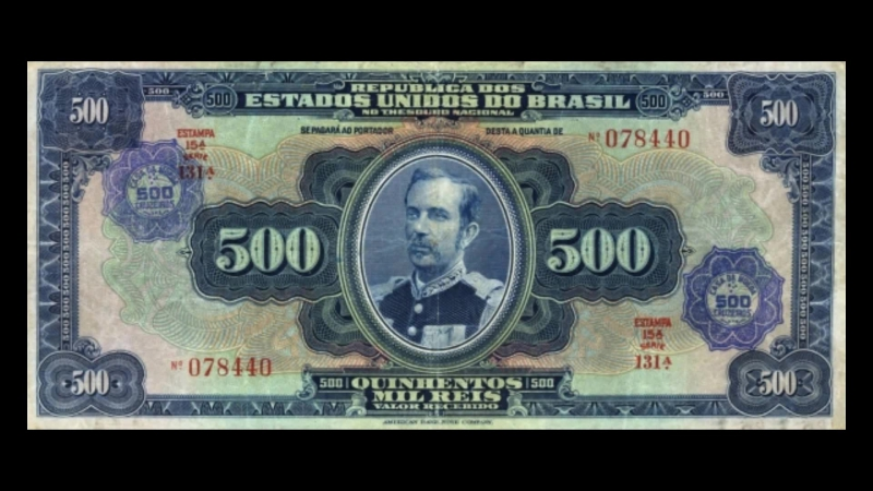 All Brazilian Cruzeiro Banknotes_1942 Provisional Cruzeiro Overprint Issue
