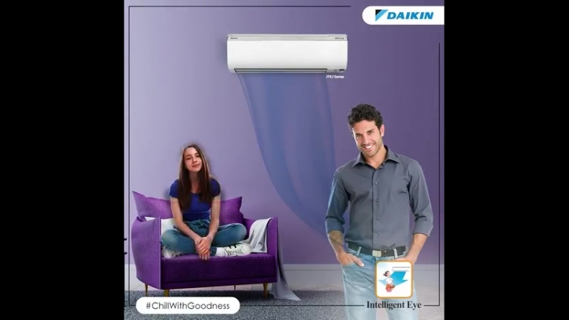 Daikin's Intelligent Eye technology ensures constant comfort. So just ChillWithGoodness and don't worry about cooling when you m