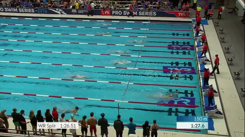 Men's 200m IM A Final _ 2018 TYR Pro Swim Series - Indy