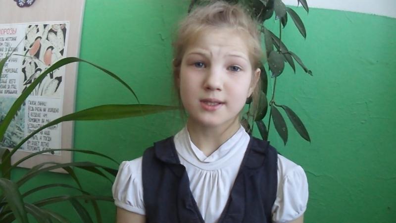 Участница акции Живая вода - Трескина Светлана, ученица 4 класса Теребаевской школы, Никольский район.