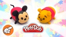 How to Make Tsum Tsum Toys. Play Doh for Kids. DIY for Kids. Learn Colors. Educational Video