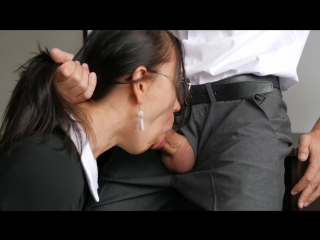 Horny young secretary fucks in anal, pussy amp; mouth with her office boss