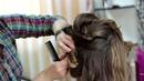 Вечерняя прическа Прическа на длинные и средние волосы Evening braided updo for long and medium hair
