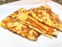 Аппетитне Блинчики к Завтраку Вы такие точно не готовили Thin pancakes