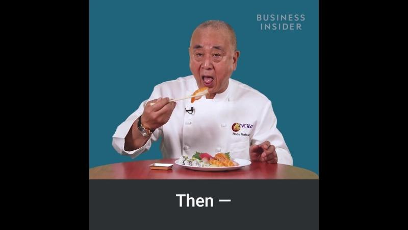 Правильный способ есть суши, по словам известного японского шеф-повара нобу matsuhisa.